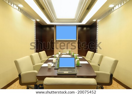 meeting room in the hotel - stock photo