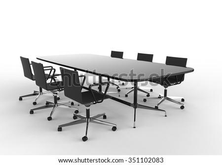 Meeting Room Perspective Shot - stock photo