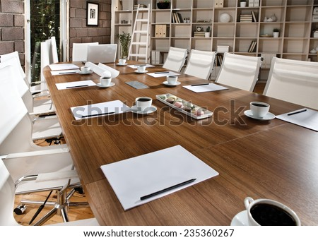 Meeting Table - stock photo