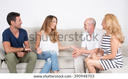 Meeting the family - stock photo