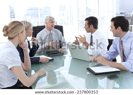 Meeting with the CEO - stock photo