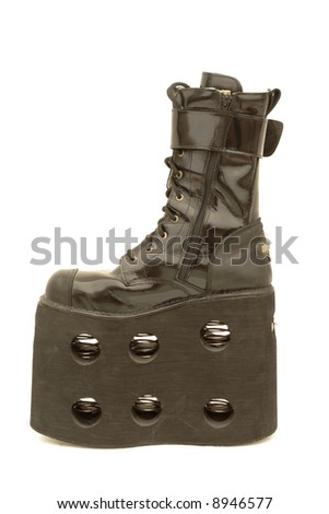 Mega platform boot, isolated - stock photo