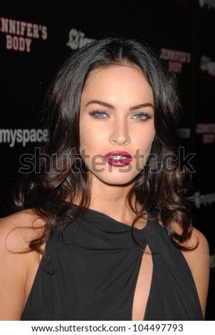 Megan Fox at the 'Jennifer's Body' Party Hosted by Myspace-IGN. Kin Lounge, San Diego, CA. 07-23-09 - stock photo