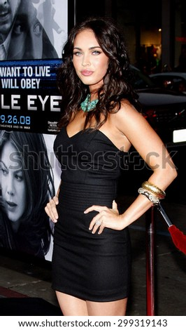 Megan Fox at the Los Angeles Premiere of Eagle Eye held at the Grauman Chinese Theater in Hollywood, California, United States on September 16, 2008. - stock photo