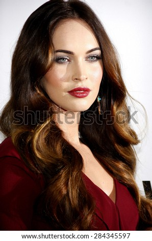 "Megan Fox at the Los Angeles premiere of ""This Is 40"" held at the Grauman's Chinese Theatre in Los Angeles, United States, 121212. - stock photo"