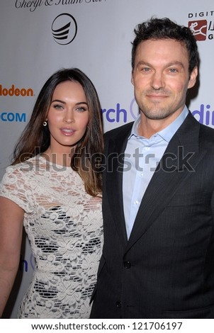 Megan Fox, Brian Austin Green at the 2012 March Of Dimes Celebration Of Babies, Beverly Hills Hotel, Beverly Hills, CA 12-07-12 - stock photo