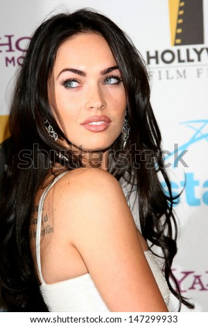 Megan Fox Hollywood Film Festival 11th Annual Hollywood Awards Gala Beverly Hilton Hotel Beverly Hills,  CA October 22, 2007 - stock photo