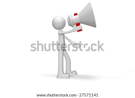 megaphone - stock photo