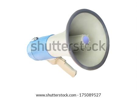 megaphone isolated under the white background - stock photo