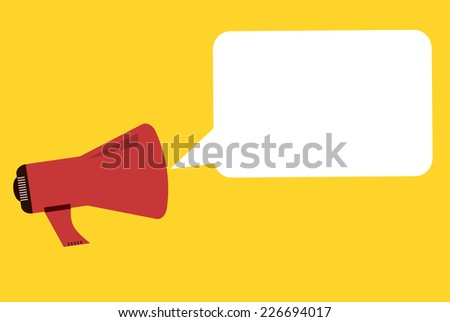 Megaphone Speech Bubble - stock photo
