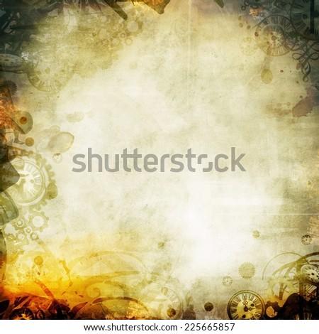 melancholy autumn background texture illustration - stock photo