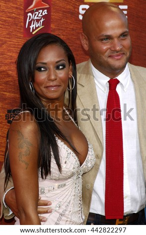 """Melanie Brown aka Mel B and husband, producer Stephen Belafonte at the Spike TV's 2nd Annual """"Guys Choice"""" Awards held at the Sony Pictures Studios in Culver City, USA on May 30, 2008. - stock photo"""