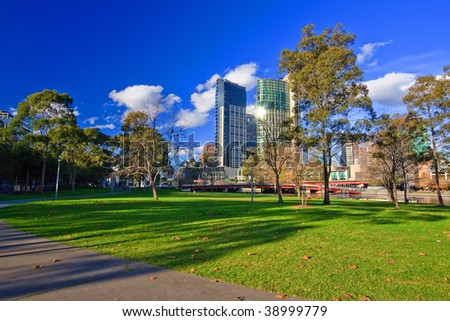 Melbourne at winter - stock photo