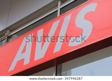 MELBOURNE AUSTRALIA - DECEMBER 5, 2015: AVIS car rental. AVIS is an American car rental company founded in 1946.  - stock photo