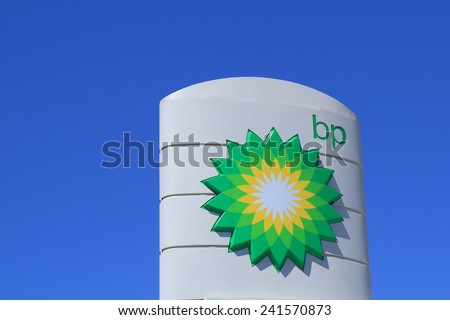 MELBOURNE AUSTRALIA - DECEMBER 13, 2014: BP - BP is a British multinational oil and gas company headquartered in London and is the sixth-largest energy company by market capitalization.  - stock photo