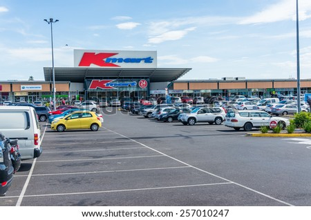 MELBOURNE, AUSTRALIA - January 2, 2015: K Mart discount department stores are owned by Wesfarmers. This K Mart store in Burwood is open 24 hours a day. - stock photo