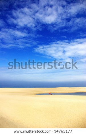 Melides  beach at south of Portugal. - stock photo
