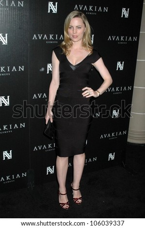Melissa George   at the Avakian Boutique Opening Celebration. Avakian Beverly Hills Boutique, Beverly Hills, CA. 12-04-08 - stock photo