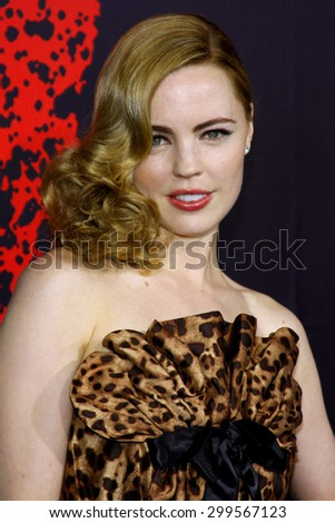 "Melissa George attends the Los Angeles Premiere of ""30 Days of Night"" held at the Grauman's Chinese Theater in Hollywood, California, United States on October 16, 2007.  - stock photo"