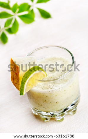 Melon and lime cocktail - stock photo