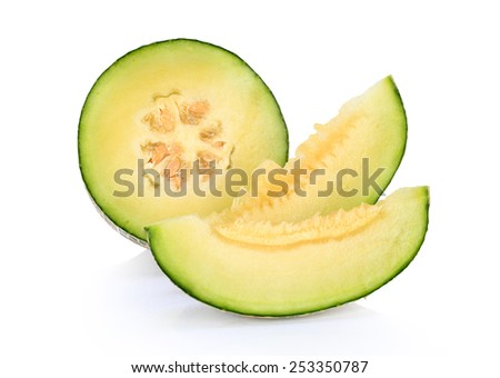 Melon  isolated on white background this has clipping path.   - stock photo