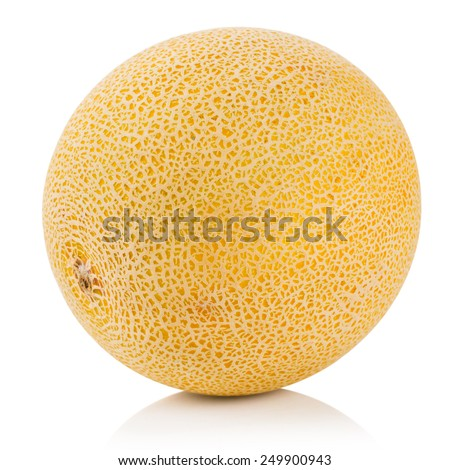 melon isolated on white Clipping Path  - stock photo