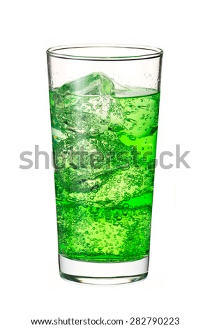 melon soda - stock photo
