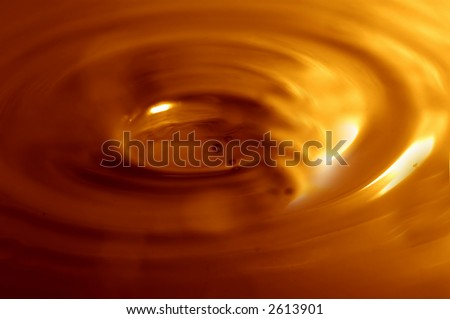 Melted chocolate background - stock photo