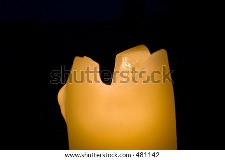 Melting candle at night #2 - stock photo