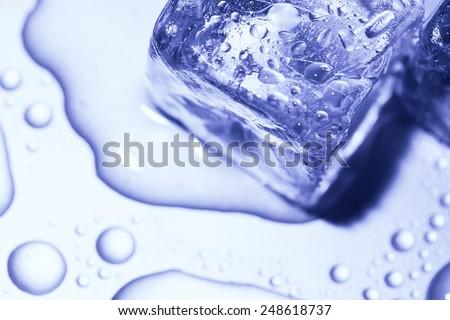 melting ice cube - stock photo