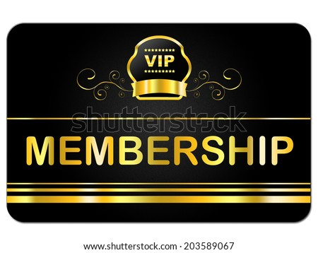 Membership Card Indicating Very Important Person And Rich Exclusivity - stock photo