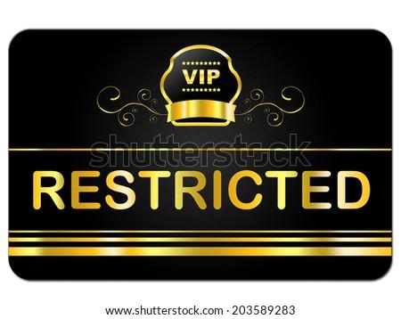 Membership Card Indicating Very Important Person And Vip Rare - stock photo