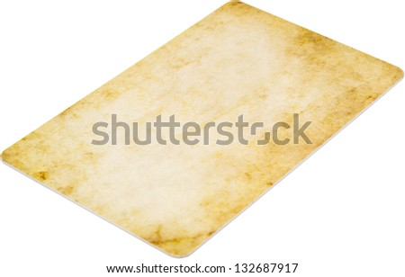 Membership Card Isolated On White - stock photo