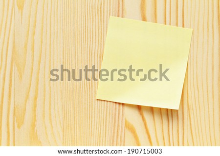 Memo note wooden plank - stock photo