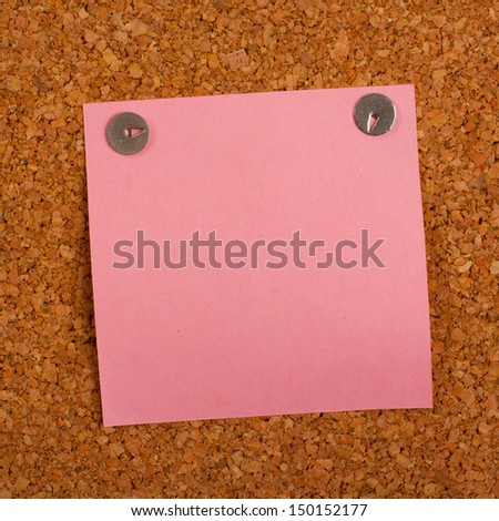 Memo on the textured wall  - stock photo