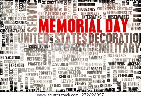 Memorial Day and Remembering Our Fallen Soldiers - stock photo