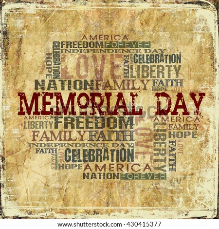 Memorial Day Background - stock photo