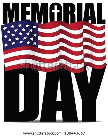Memorial Day design. - stock photo