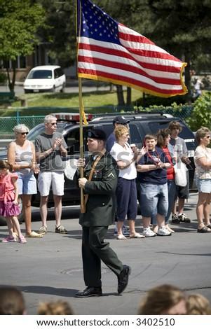 Memorial Day Parade, Auburn, NY - stock photo