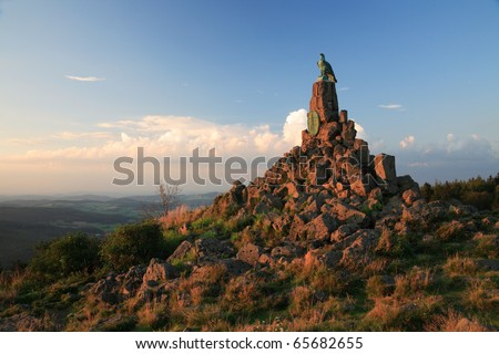 Memorial in the Rhön Mountains  - stock photo