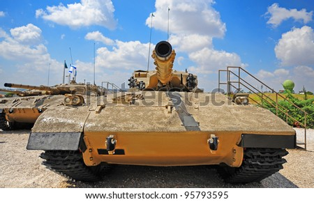 Memorial Site and the Armored Corps Museum in Latrun, Israel - stock photo