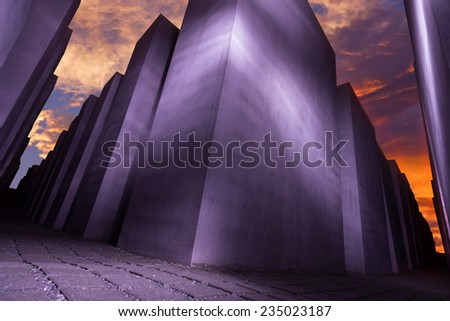 Memorial to the Murdered Jews of Europe, Berlin, Germany - stock photo
