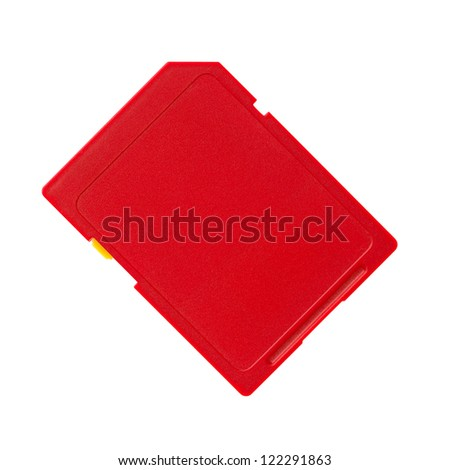 Memory card on a white background - stock photo