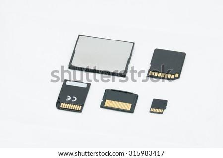 Memory for Digital Camera  - stock photo