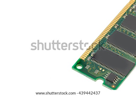 memory ram isolated White background - stock photo
