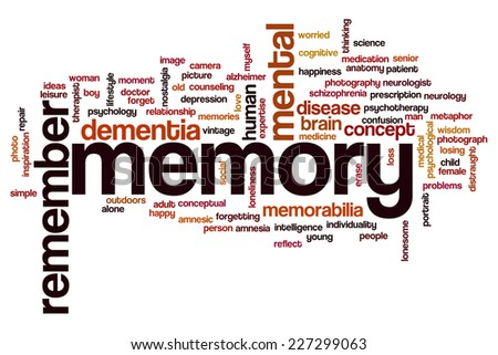 Memory word cloud concept - stock photo