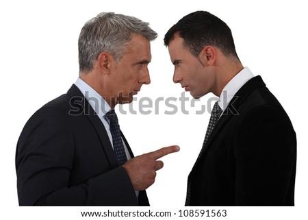 Men arguing - stock photo