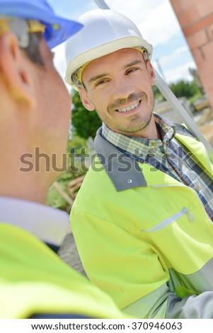 men at work - stock photo