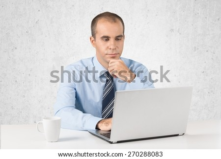 Men. Businessman senior working  - stock photo