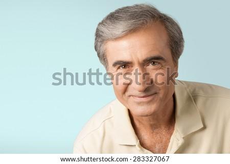 Men, Human Face, People. - stock photo